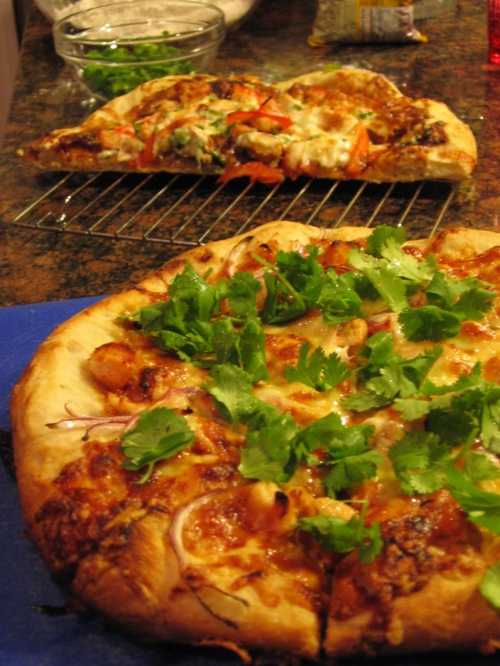 Asian Pizza and BBQ Pizza