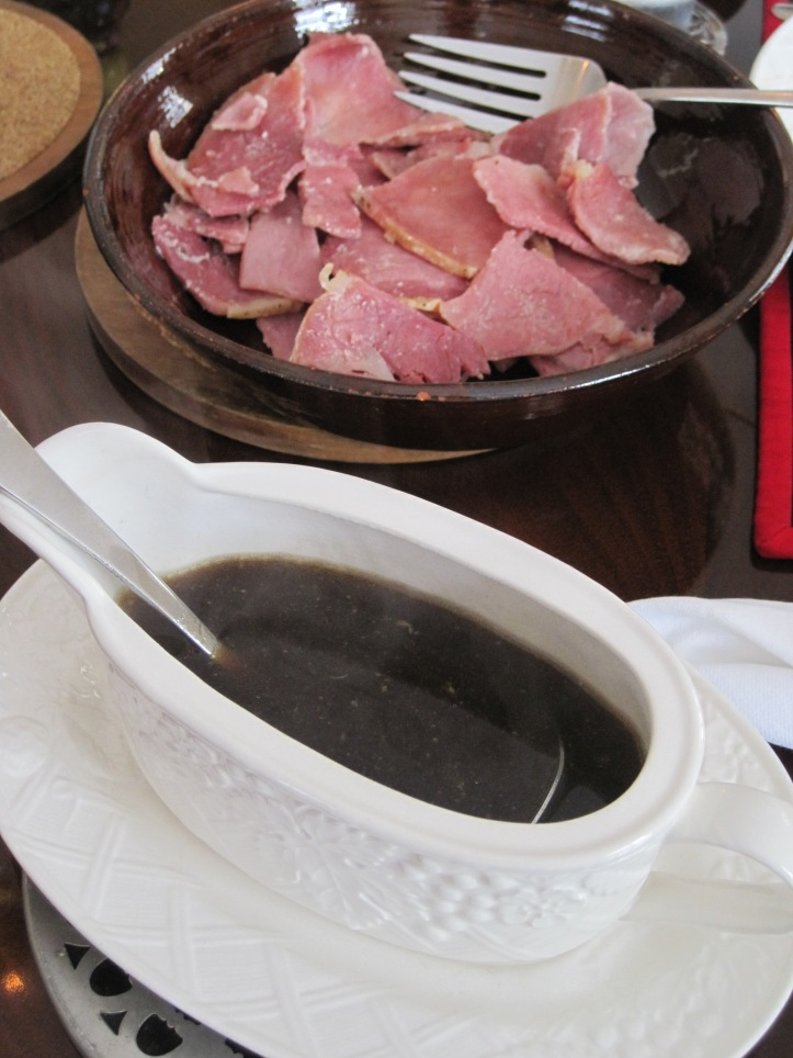 Country Ham with Red-Eye Gravy – Minced