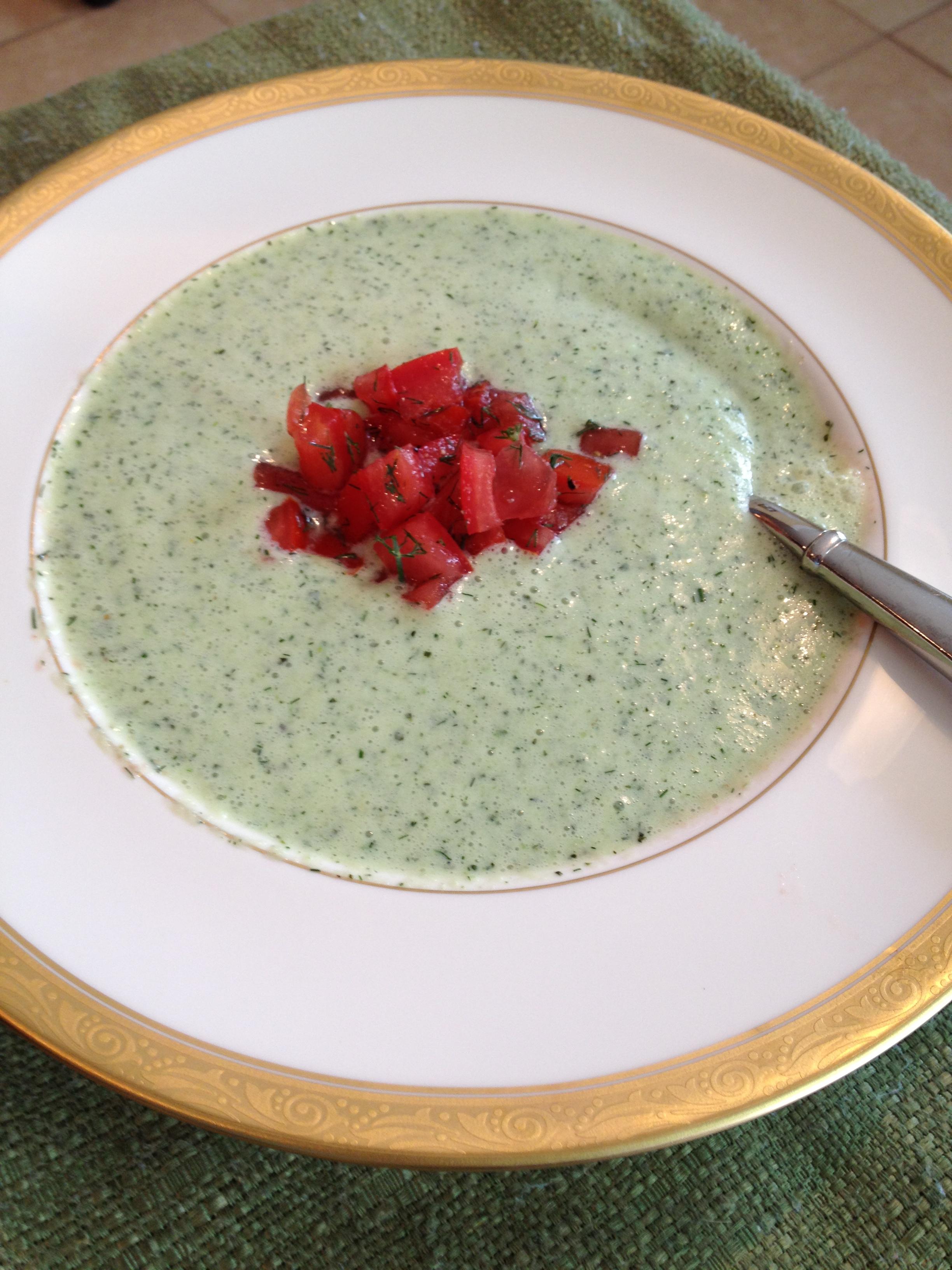 Cucumber-Buttermilk Soup Recipe — Dishmaps