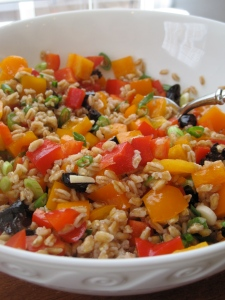 Farro and Bell Pepper Salad