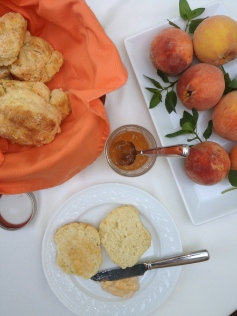 Peach and Jalapeno Jelly with Biscuits