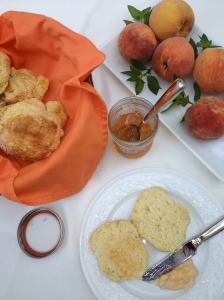 Peach & Jalapeno Jelly with Biscuits
