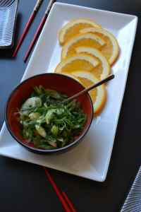 Green Onions and Orange Slices