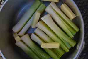 Leeks with Butter and Salt