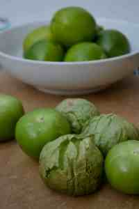 Tomatillos and Limes