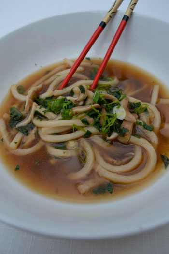 Close-Up Upon Noodle Soup