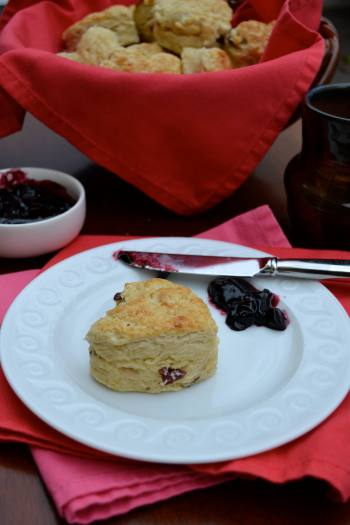Scones with Cranberries and Jam