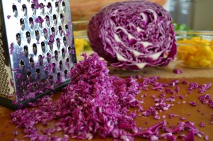 Grating the Red Cabbage
