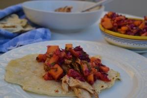 Mahi-Mahi Taco with Mexican-Inspired Slaw and Accompaniments