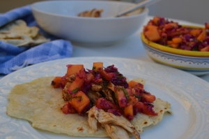 Mahi-Mahi Taco with Mexican-Inspired Slaw and Accompaniments