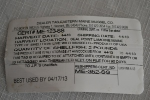 Shellfish Tag