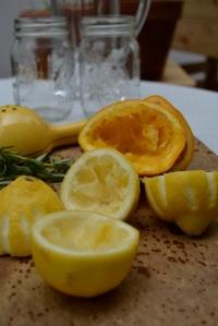 Juiced Lemons and Orange