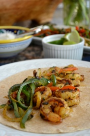 Spicy Shrimp Fajitas