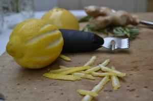Strips of Lemon Zest