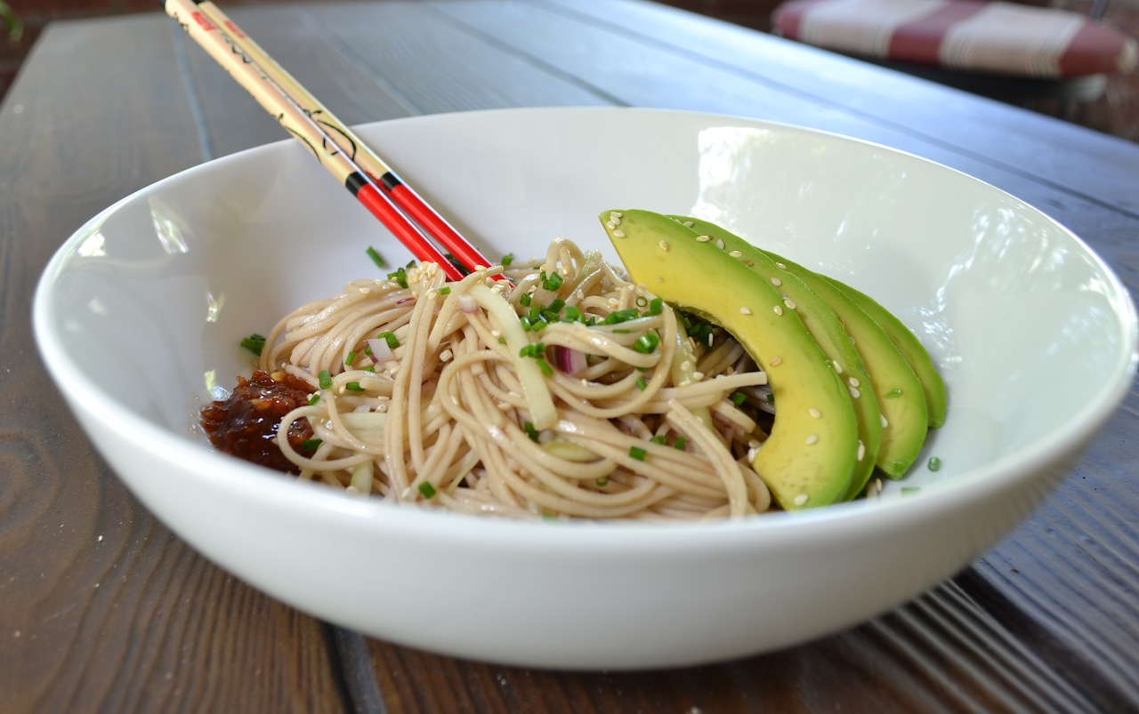 Cold Soba Noodles with Cucumber, Red Onion, and Avocado ...
