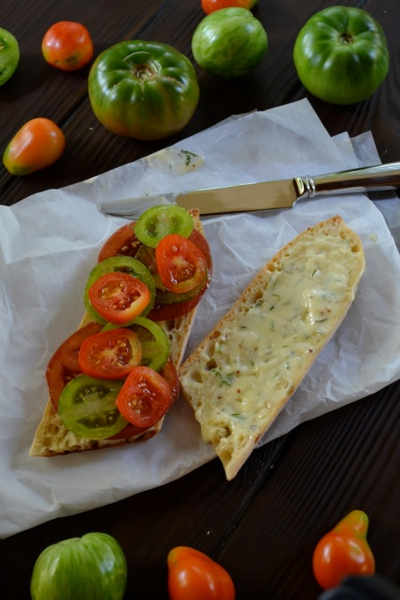 Garden Tomatoes with Homemade Mayonnaise
