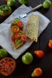 Making the tomato sandwich