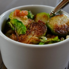 Pan-Seared Brussels Sprouts with Pine Nuts and Pancetta