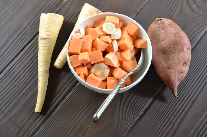 Parsnips and Sweet Potatoes