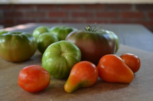 Roma, Green Zebra and Black Krim Tomatoes