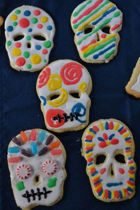 Dia de Los Muertos Skull Cookies