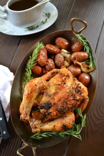 Herb Roasted Chicken with Pan Gravy 2