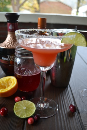 Cheers!  Cranberry and Orange Margarita