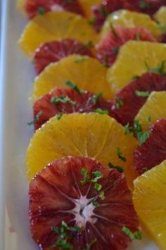 Blood Orange and Orange Moroccan Salad