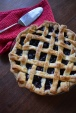 Bluberry Pie with Lattice Top