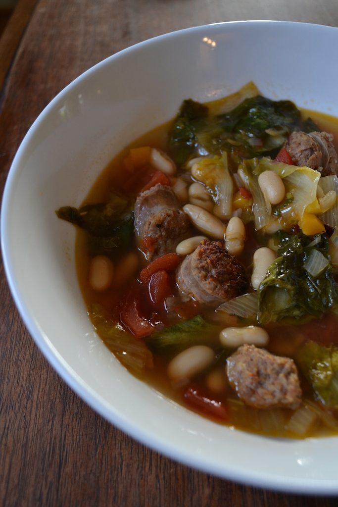 Pasta With Italian Chicken Sausage, Escarole And Beans Recipe ...
