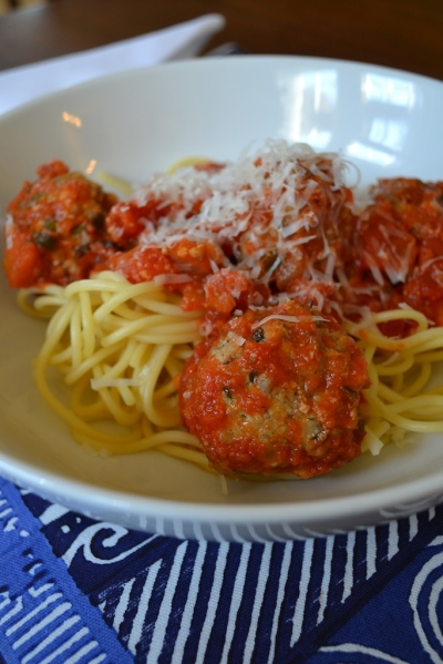 Spaghetti and Meatball Close-up