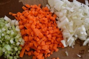 Mirepoix  - Celery, Carrot, and Onion