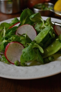 Close-up with Radishes and Peas