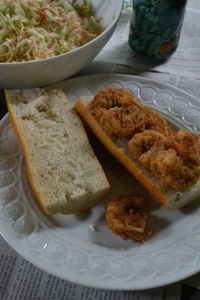 Fried Shrimp on Baguette