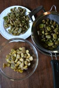 Peeling the Soaked Fava Beans