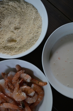 Shrimp, Cornmeal Mixture, and Buttermilk