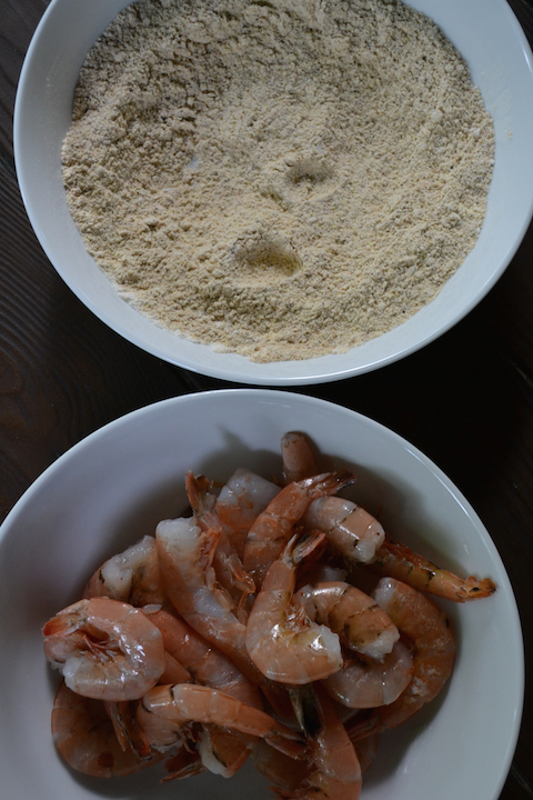 Shrimp with Cornmeal Mixture