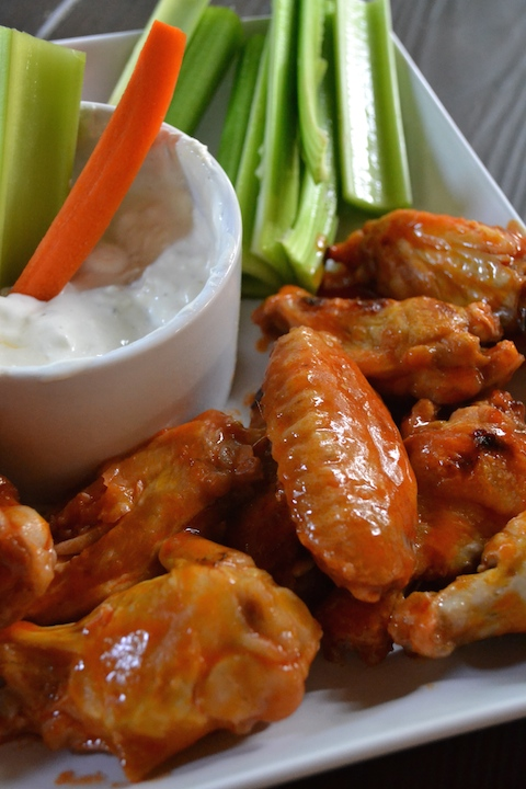 Buffalo Chicken Wings And Blue Cheese Dip Without The