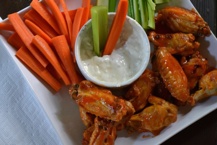 Finger-licking hot wings