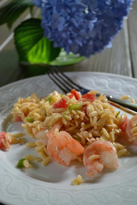 Shrimp, Feta, Tomato and Orzo Pasta