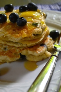 From the side Beer and Blueberry Pancakes