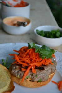 Banh Mi Burger with Accompaniments