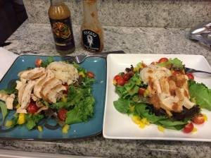 Master Worth Salad with Sliced Chicken Breast