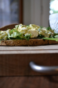 Rye Bread with Dill Egg Salad
