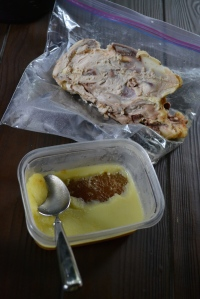Chicken Carcass and Pan Juices and Fat