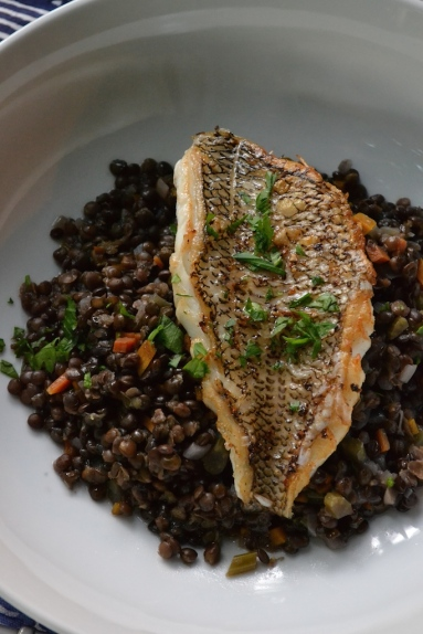 Pan-Seared Black Bass