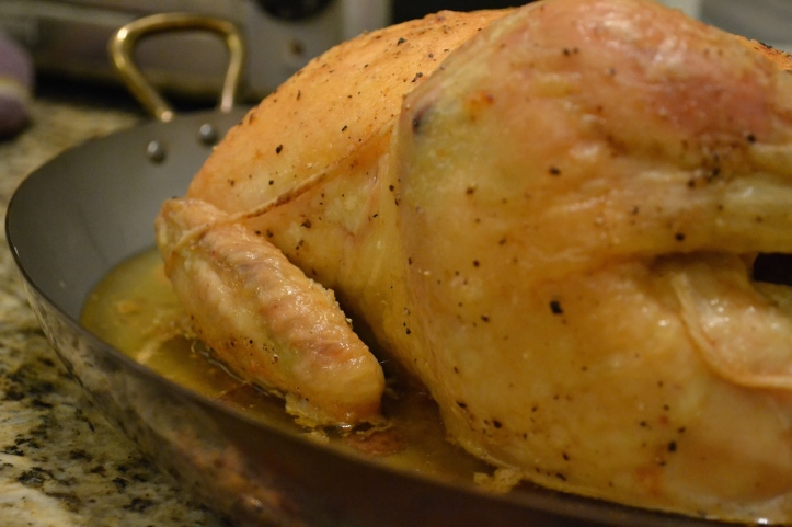 Side View of Slow-Roasted Chicken