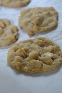 White Chocolate-Macadamia Nut Cookies