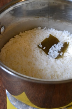 ooked Rice with Konbu Square