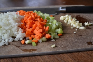Mirepoix for Soup